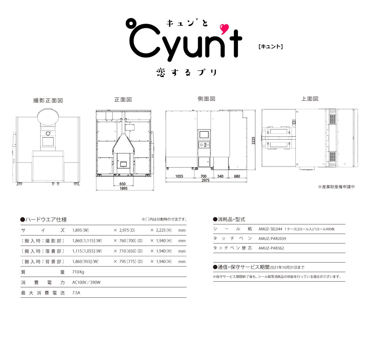『Cyunt』仕様
